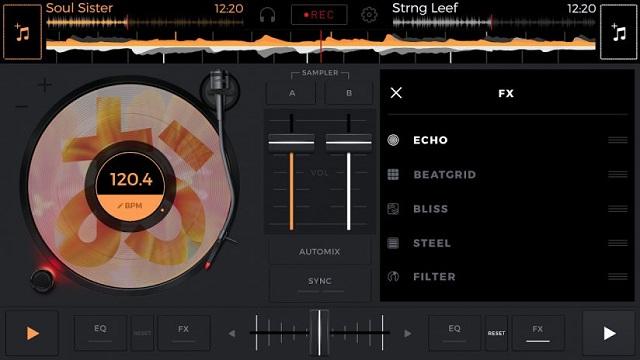 Echo là phần điều chỉnh hiệu ứng âm thanh của Edjing Mix