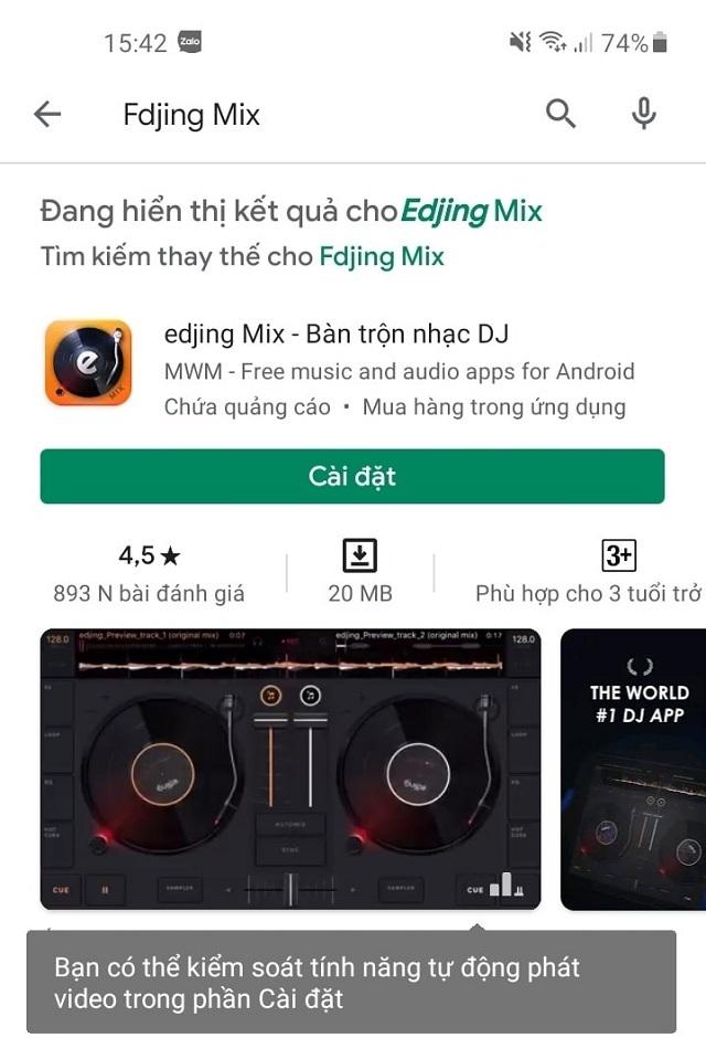 Tải edjing Mix trên cửa hàng CH Play