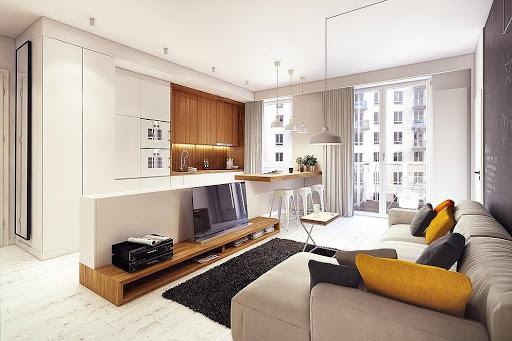 Phối hợp màu sắc hài hòa trong thiết kế nội thất chung cư